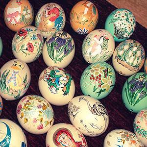 ostrich hollow eggs